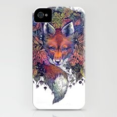 Hiding fox rainbow iPhone (4, 4s) Slim Case