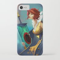 transistor iPhone & iPod Cases featuring Red and Luna by Leksotiger