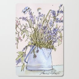 Wildflowers Botanical Flowers in Pitcher Cutting Board