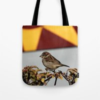 sparrow Tote Bags featuring Sparrow by IowaShots