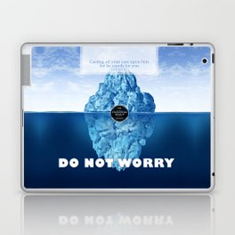 1 Peter 5:7 Worry Laptop & iPad Skin