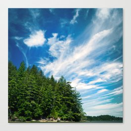 Long Island, Washington Sky Canvas Print