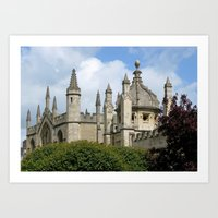 spires Art Prints featuring Oxford Spires by Ann Horn