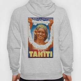 1934 TAHITI The Pearl Of The Pacific Travel Poster Hoody