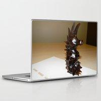 sea horse Laptop & iPad Skins featuring Sea Horse by Lili Lash-Rosenberg