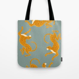 Leopard Race - blue Tote Bag
