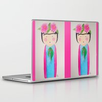 frida kahlo Laptop & iPad Skins featuring Frida Kahlo by lolieon