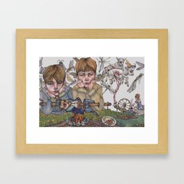 Rumplestiltskin, This Little Lamb Chop Framed Art Print