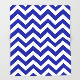 Blue (Pantone) - blue color - Zigzag Chevron Pattern Throw Blanket