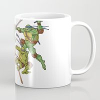 tmnt Mugs featuring TMNT by Brittany Ketcham