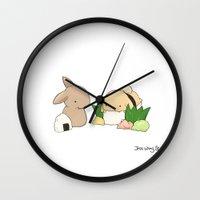 sushi Wall Clocks featuring Sushi by Jess Wong