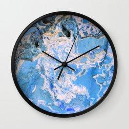 Blue Rock Wall Clock