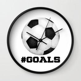 #Goals Wall Clock