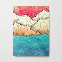 As the sea hits the mountains Metal Print