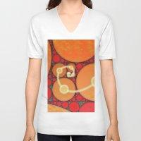 fibonacci V-neck T-shirts featuring Fibonacci Spiral Fractal by Conceptualized