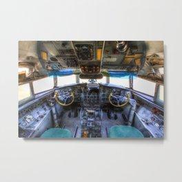 Ilyushin IL-18 Cockpit View Metal Print