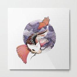 Bubble Fish Metal Print