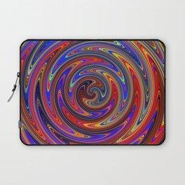 Swirly Twirly Colorful Lollipop Laptop Sleeve