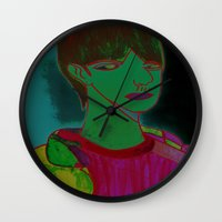 sam smith Wall Clocks featuring Sam by Latidra Washington