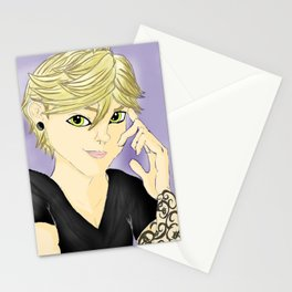 Le Noir Tattoo: Chat Noir Stationery Cards