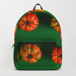 Green and red tomatoes concept Backpack