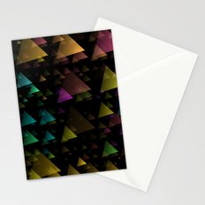 Drifting Triangles Stationery Cards