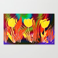 tulip Canvas Prints featuring Tulip  by LoRo  Art & Pictures