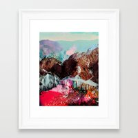 ice Framed Art Prints featuring Untitled 20110310e (Landscape) by tchmo