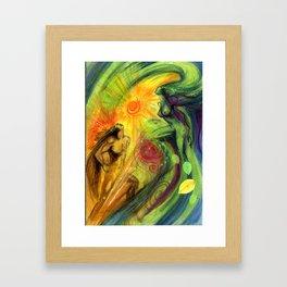 Beltane dance Framed Art Print