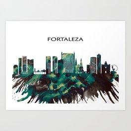 Fortaleza Skyline Art Print