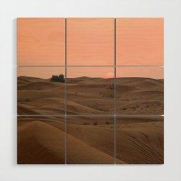 Arabian Desert Sunset Wood Wall Art