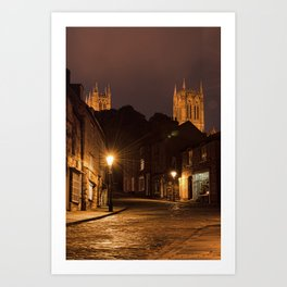 Lincoln Cathedral from Steep Hill Art Print