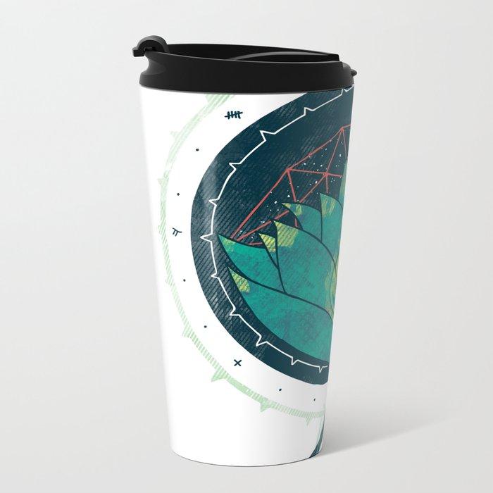 Blue Lotus Metal Travel Mug