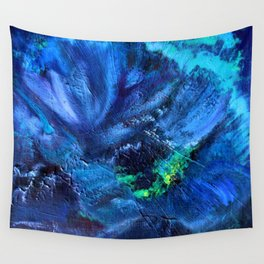 Blue Anemone Wall Tapestry