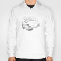 porsche Hoodies featuring Porsche 964 by dsalni