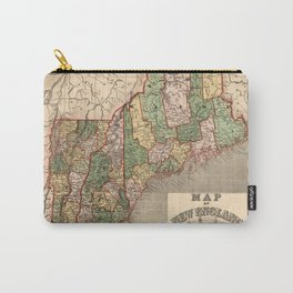 Map of New England 1847 Carry-All Pouch
