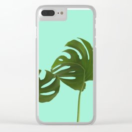 Monstera madness III Clear iPhone Case