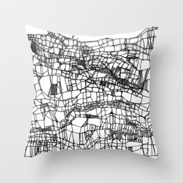 deconstructed knit Throw Pillow