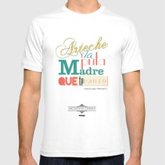 Argentina Cinema MEDIUM Mens Fitted Tee White