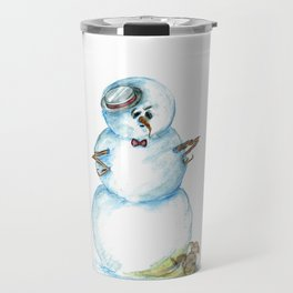 Snowman Mistaken For A Fire Hydrant Travel Mug