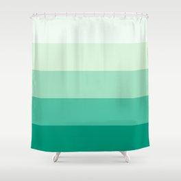Pastel Green Stripes Shower Curtain