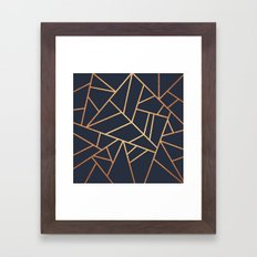 Copper and Midnight Navy Framed Art Print
