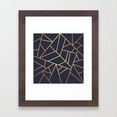 Copper and Midnight Navy Framed Art Print