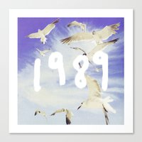 1989 Canvas Prints featuring 1989 by *starbucks*