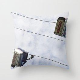 Emirates Cable Car London Throw Pillow