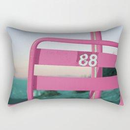 Pop Art 80's Chair Lift Rectangular Pillow