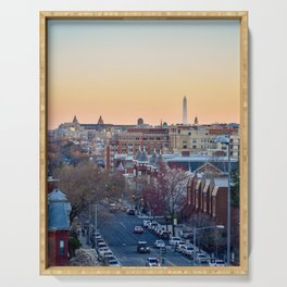 View of Washington Monument from Columbia Heights Serving Tray