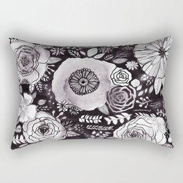 Black&White Floral Mix Rectangular Pillow