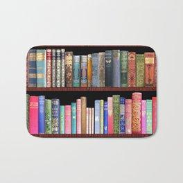Book Lovers Gifts, Antique bookshelf Bath Mat