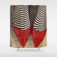 dorothy Shower Curtains featuring Dorothy by elle moss